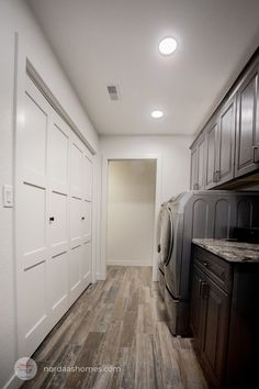 This perfect laundry room offers spare storage solutions for ultimate organization! Explore this custom prairie style custom home, along with more interior and exterior photos. Home designed and built by Nordaas Homes. Room Makeover, Room Design, House, Home, Perfect Laundry Room, Custom Homes, New Homes, Hallway Designs, Home Builders