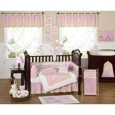 Amazon.com: Pink Dragonfly Dreams Bug Baby Girl Bedding 9pc Crib Set: Baby