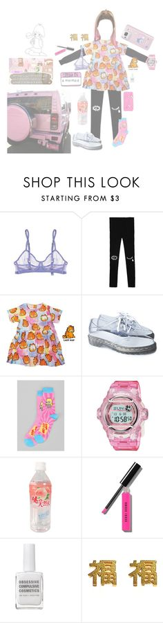 """Untitled #33"" by psymoth ❤ liked on Polyvore featuring River Island, STELLA McCARTNEY, Dr. Martens, Casio, Bobbi Brown Cosmetics, Obsessive Compulsive Cosmetics and yuki nagao"