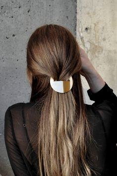 A hand-cut brass barrette is just what your hair needs.