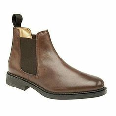 Mens Roamers Leather Chelsea Boots Buy her :