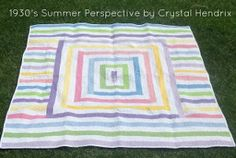 Go back in time through your quilts with this gorgeous Summer of 1930 Quilt.