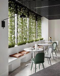 Biophilic & Sustainable Interior Design · Biophilic design: nature in the space · DforDesign Interior Design Minimalist, Cafe Interior Design, Cafe Design, House Design, Minimal Home Design, Corporate Interior Design, Modern Interior, Design Art, Design Ideas