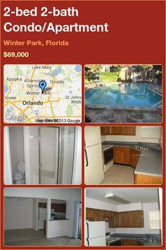 2-bed 2-bath Condo/Apartment in Winter Park, Florida ►$69,000 #PropertyForSale #RealEstate #Florida http://florida-magic.com/properties/4715-condo-apartment-for-sale-in-winter-park-florida-with-2-bedroom-2-bathroom