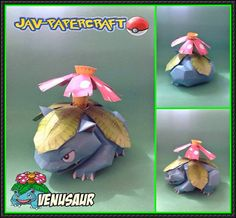 This pokemon papercraft is Venusaur (Fushigibana), a dual-type Grass/Poison Pokémon, based on the anime / game Pokemon, the paper model was created by javi 3d Paper, Paper Toys, Free Paper, Crafts For Teens, Diy And Crafts, Paper Crafts, Teen Crafts, Z Craft, Crafty Craft