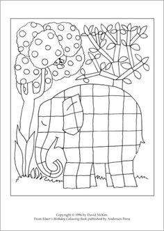Elmer coloring, elephant coloring page - elefánt kifestő Colouring Pages, Coloring Sheets, Coloring Books, Book Activities, Preschool Activities, Elmer The Elephants, Art For Kids, Crafts For Kids, Elephant Coloring Page