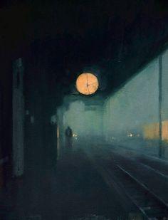 redlipstickresurrected: Ben McLaughlin (British b. 1969 London England) - From Anyone Awake? Nocturne, Painting Inspiration, Art Inspo, Arte Van Gogh, Drawn Art, Fine Art, Aesthetic Art, Aesthetic Drawing, Aesthetic Grunge
