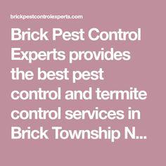 Brick Pest Control Experts provides the best pest control and termite control services in Brick Township NJ 732-831-7676 .