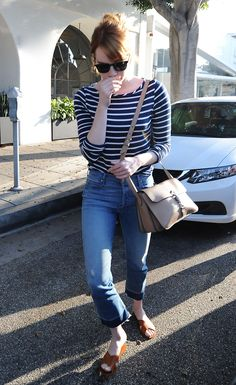 Emma Stone Street Style, Emma Stone Style, Fall Outfits, Summer Outfits, Casual Outfits, Fashion Outfits, Emma Stone Outfit, Fearne Cotton, Minimal Fashion