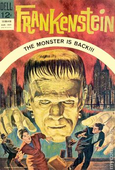 dell comics covers | Frankenstein (1963 Dell) comic books