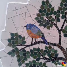 Joe & Romio Mosaics © All Rights Reserved Tree Patterns, Patterns In Nature, Mosaic Patterns, Mosaic Ideas, Mosaic Crafts, Mosaic Art, Mosaic Glass, Mosaic Animals, Mosaic Birds