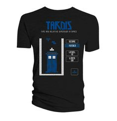 Cool Doctor Who Tardis Tetris T-shirt is a mash-up of the long-time running TV Show, Doctor Who, and the popular retro game, Tetris. Makes the perfect gift for your favorite Whovian! 2 LEFT!
