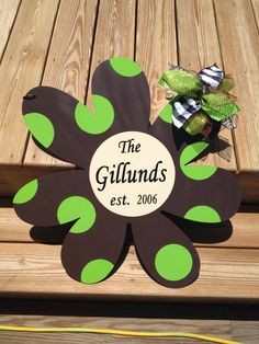 """Metal Daisy for Garden Flag, Door, Wreath, and Wall--Any Color--24"""". $50.00, via Etsy."""