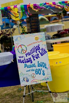 Peace, love, and the 60s RFL-16 by Relay For Life of Dr. Phillips, via Flickr #relayforlife