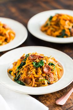 Rustic Italian Style Sausage Sweet Potato Noodles | Get Inspired Everyday!