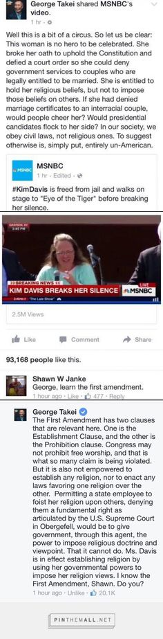 George Takei smack down; I used to work with that commenter, nice guy but disappointed in his  aggressiveness