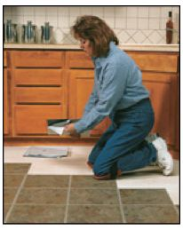 A step-by-step tutorial on how to install self-stick vinyl tile