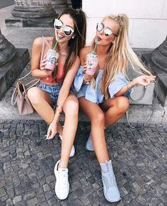 bff, cool, drink, friend, girl