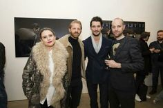 David Gandy, @ richhphoto & @ AlistairGuy at last night's private viewing of Mr. detective Man    06/01/15