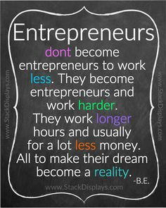 The true definition of an entrepreneur. Brought to you by Stack Displays. Product Displays & Accessories.