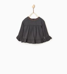 Loose fit embroidered blouse-SHIRTS-BABY GIRL | 3 months-3 years-KIDS-SALE | ZARA United States