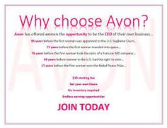 Start Avon for only $15 dollars!!!! Join my Avon Team GoalGetters #avon #avonrep #sellavon #sellavononline #holiday #money #discounts #earn #earnmoney #bonuses #checks #shopandearn #gifts #fun #women #beautyforapurpose #avonbrochure #lovewhatyoudo #dowhatyoulove #leadership #directsales #130yearsstrong #sisterhood