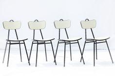 Série de chaises Formica Blanche années 60 #chaises #formica