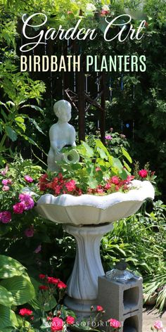 1697 best garden art junk decor images on pinterest 12 ideas for bird bath planters turn that broken bird bath into something wonderful solutioingenieria Images