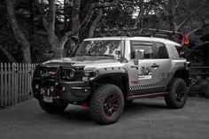 Black, White and Red. NestahEdition,com #FJ #FJCruiser #Toyota