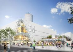 """Rotterdam firm MVRDV has unveiled its plans to overhaul La Part Diu retail complex in Lyon, which feature an """"evaporating"""" facade and a rooftop park."""