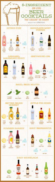 10 drinks facinhos de fazer que levam cerveja!