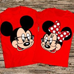 Mickey and Minnie shirts Personalized Disney Couple Shirts Cute Couple Shirts, Disney Couple Shirts, Disney World Shirts, Family Shirts, Mickey Mouse Birthday Shirt, Mickey Shirt, Long Sleeve Tee Shirts, T Shirts, Couple T Shirt Design