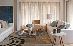 Linho: Proporciona conforto e aconchego, por ser um tecido encorpado, combina com ambientes sóbrios.