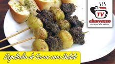 Receita de Espetinho de Carne com Batata - Tv Churrasco