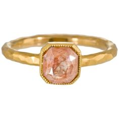 Cathy Waterman Rustic Diamond Ring ($4,330) ❤ liked on Polyvore