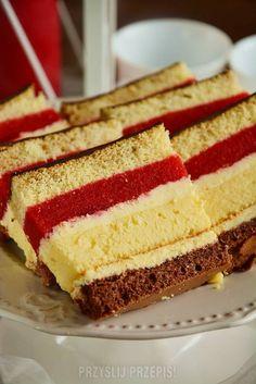 Sernik owocowy Siostry Anastazji z moimi zmianami - PrzyslijPrzepis.pl Baking Recipes, Cake Recipes, Plum Cake, Food Cakes, Cakes And More, Christmas Baking, Cheesecakes, Vanilla Cake, Ale