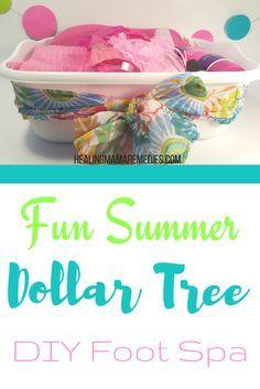 Fun Summer Dollar Tree DIY Foot Spa