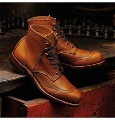 Men's Addison 1000 Mile Wingtip Boot by Wolverine, Horween Chromexcel® leather, Made in the USA