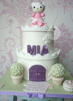 Hello Kitty castle birthday cake by The Designer Cake Company, via Flickr