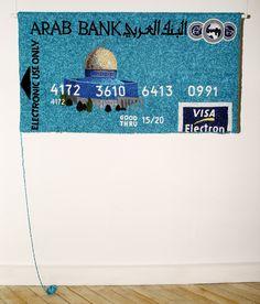 Knitted Credit Card by Russian artist Dimitri Tsykalov Kitsch Art, Bank Card, Art Base, Crochet Art, Famous Artists, Pretty Cool, Hand Stitching, New Art, How To Make Money