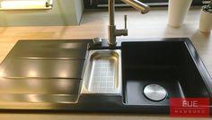 Keramikspüle Genea 100 von systemceram. Leichtes Pflegen und schnelles Reinigen für eine saubere Spüle. Hygienisch, lebensmittelecht und säureresistent. Beratung und Verkauf mit Garantie über EUE Hamburg.