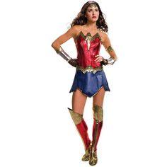 Adult Batman v Superman: Dawn of Justice Deluxe Wonder Woman Costume, Size: Medium, Multicolor