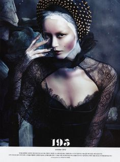 Gothic Elegance Photographer: Hyea W. Kang Digital Edition Vogue Korea 10/2012