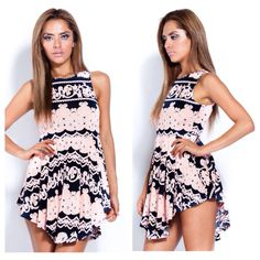 Pink printed dress, $45! Available at www.iwearred.com www.bright-clothes.com m@bright-clothes.com