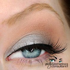 Silver Ring (on lid, below crease) Electra (middle of lid to highlight softly) Soft Brown (crease) Blanc Type (blend) Mac Eyeshadow, Eyeshadows, Peach Makeup, Beauty Magazine, Pearl Grey, Eye Make Up, Makeup Inspo, Silver Rings, Noodle