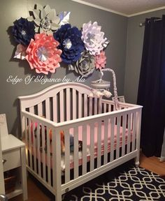Nursery Theme Ideas for Mamas-to-Be Girl Nursery, Nursery Room, Girl Room, Baby Girl Nursey, Baby Girl Bedding, Baby Bedroom, Baby Room Decor, Baby Rooms, Room Baby