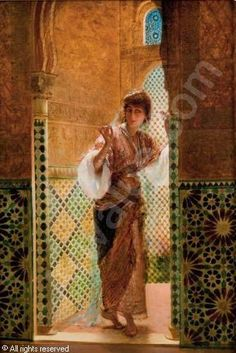 View Oriental beauty by a window By Edouard Frederic Wilhelm Richter; Access more artwork lots and estimated & realized auction prices on MutualArt. Portrait Photos, Beauty Portrait, Empire Ottoman, Lawrence Alma Tadema, Arabic Art, Historical Art, Classical Art, Arabian Nights, Fine Art