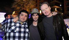 Ian with his Lost co-star, Jorge Garcia & late night talk show host, Conan O'Brien.