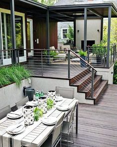 Modern Deck Backyard Ideas Building A Deck, Backyard Design, Modern Porch, Deck Design, Summer Backyard, House With Porch, Modern Deck, Deck With Pergola, Trending Decor