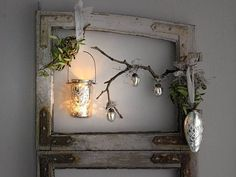 rustic christmas ideas | Christmas decor in Scandinavian style, silver pine cones and rustic ...